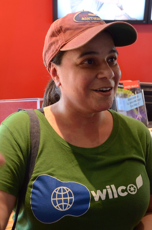. Gillian Jones/North Adams Transcript  Wilco fan Paula Echeverria is from Guatamala City, Guatamala