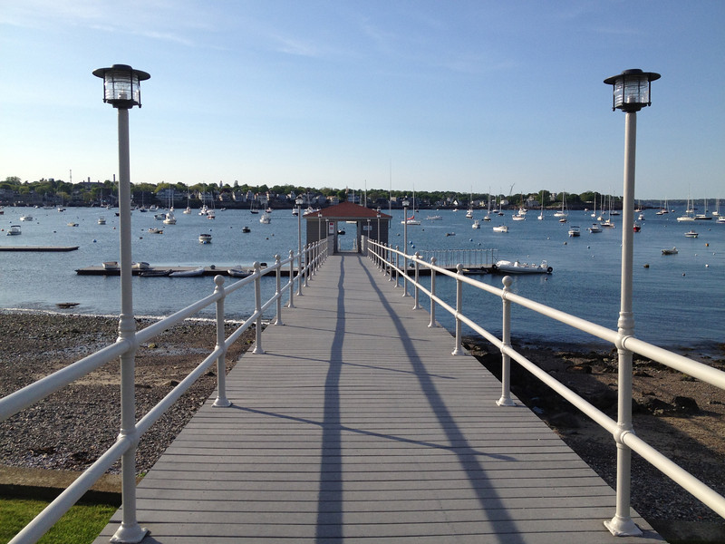 Looking down the Eastern Yacht Club dock