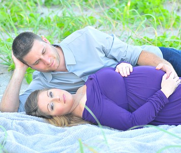 Ashley and Adam Baby Bump Pictures
