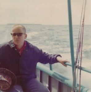 1974 Fishing on Lake Michigan