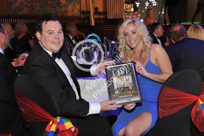 Swansea Life Awards 2017 Brangwyn Hall, Swansea Restaurant Highly Commended.. Riverhouse