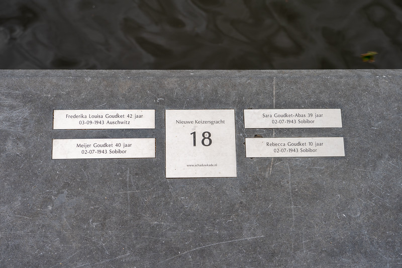 Remembrance plates in Amsterdam