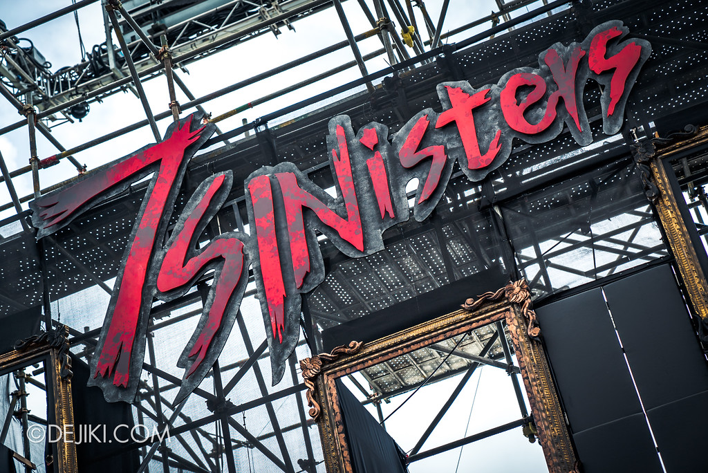 Halloween Horror Nights 7 Before Dark 2 Preview Update / Opening Scaremony Stage 7 Sinisters sign
