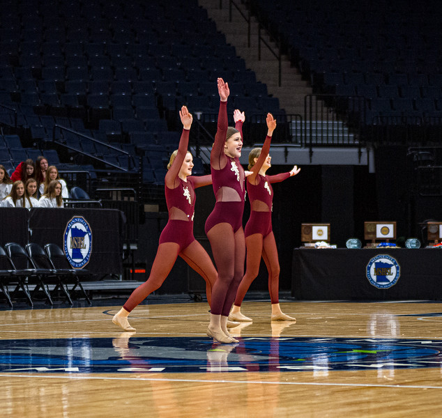 Holy Family Dance Team at 2020 MSHSL State Jazz Tournament Prelim - Collin Nawrocki/The Phoenix