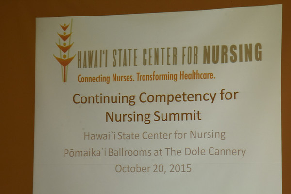 Hawaii State Center for Nursing  CC Summit 10-20-15