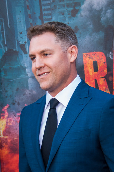 LOS ANGELES, CA - APRIL 04: John Rickard arrives at the Premiere Of Warner Bros. Pictures' 'Rampage' at Microsoft Theater on Wednesday April 4, 2018 in Los Angeles, California. (Photo by Tom Sorensen/Moovieboy Pictures)