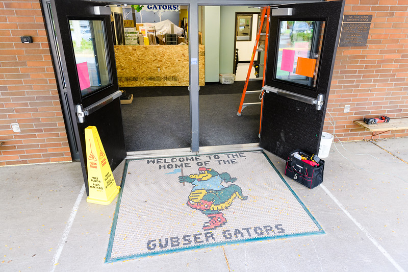 New carpet in main school entrance at Gubser Elementary on Friday, August 16, 2019, in Keizer, Ore.
