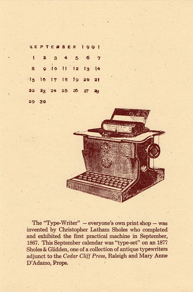 September, 1991, Cedar Cliff Press