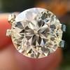 3.86ct Old European Cut Diamond GIA K VS2 41
