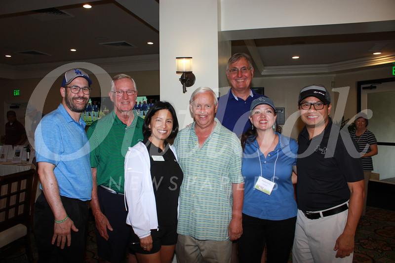 Rabbi Joshua Levine Grater, Jim Brewer, Sonya Perry, Pat Wickhem, Bret Schaefer, Monica Perry and Richard Cheung