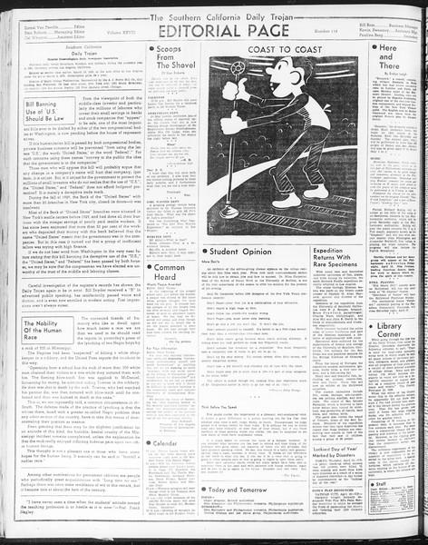Daily Trojan, Vol. 28, No. 116, April 15, 1937