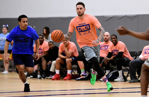 4/5/2019 Mike Orazzi | Staff Cody Bayne during Friday's Bristol's All Star Basketball Game held at the Boys & Girls Club of Bristol Family Center on West Street.