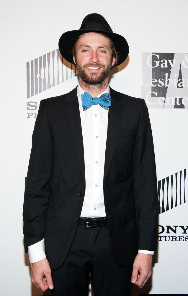 """. Paul McDonald arrives at \""""An Evening\"""" Benefiting The L.A. Gay & Lesbian Center at the Beverly Wilshire Four Seasons Hotel on March 21, 2013 in Beverly Hills, California. (Photo by Valerie Macon/Getty Images)"""