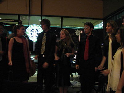 2006.12.05 Tue - Biola Vocal Jazz Ensemble gig @ Starbucks