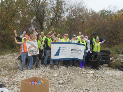 10.25.12 Cleanup Along Patapsco River off Hammonds Ferry Road With Structural Employees
