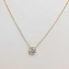 1.07ct Old European Cut Diamond AGS I SI1 Yellow Gold Bezel 12