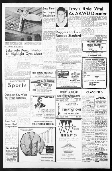 Daily Trojan, Vol. 57, No. 71, February 18, 1966