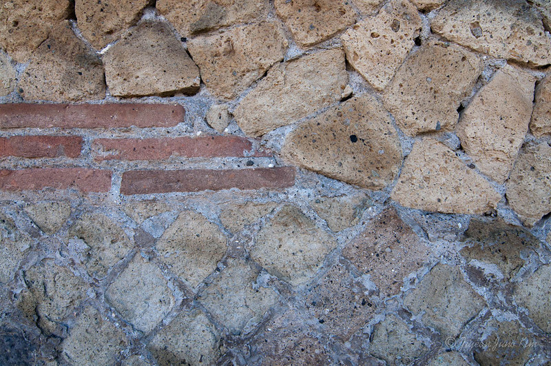 Bricks on the wall of Herculaneum