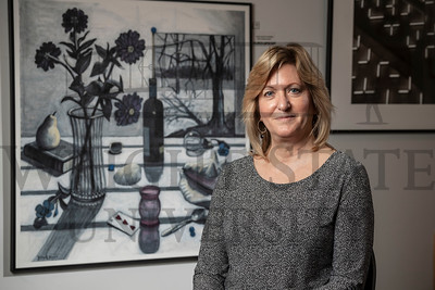 52222 Fine-arts alum Kathleen Moore at the Richmond Art Museum 11-26-19