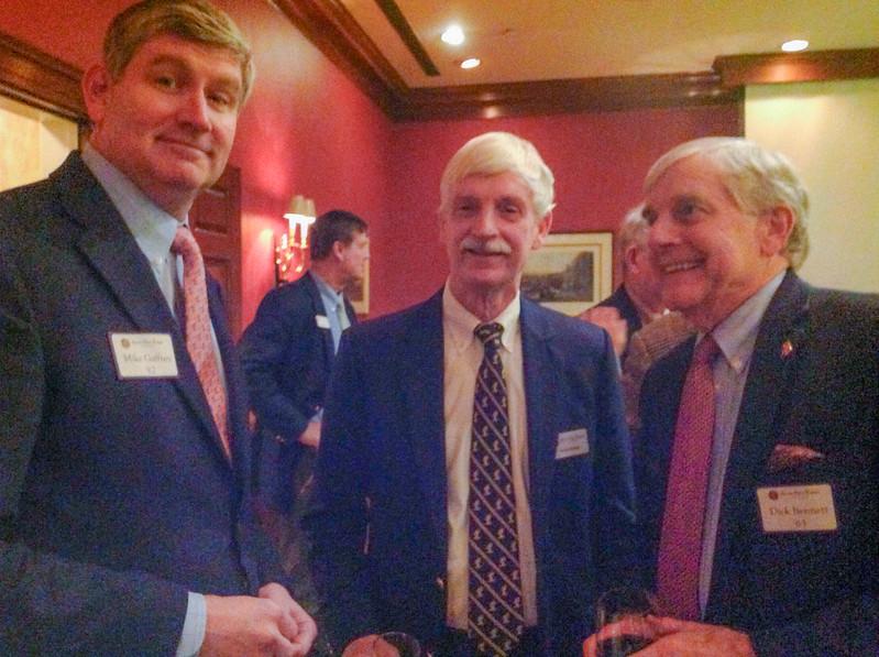 Mike Gaffney '82, Peter Evans P'98, and Dick Bennett '63