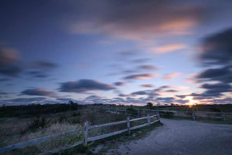 Golf Cart path at Highland Light (sunrise)