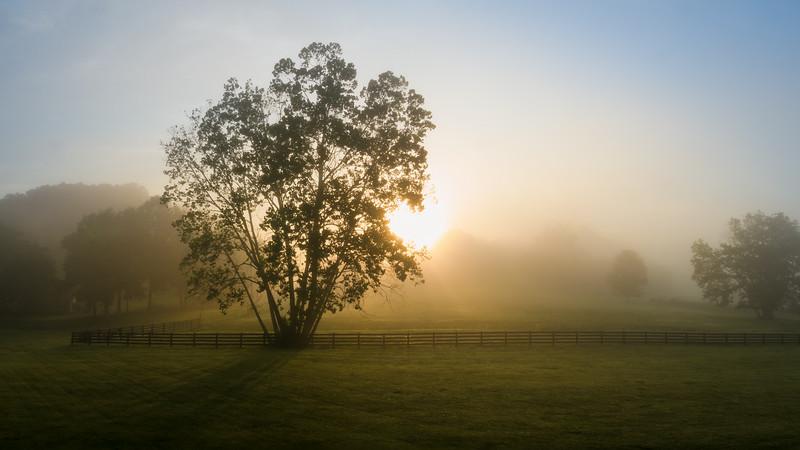 Sunrise breaking through