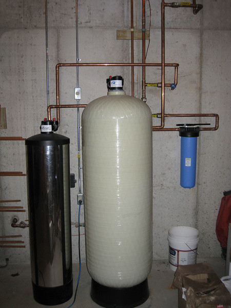 New water softening system.  Doesn't require salt.  Filter media will need to be replaced about every 5 years.