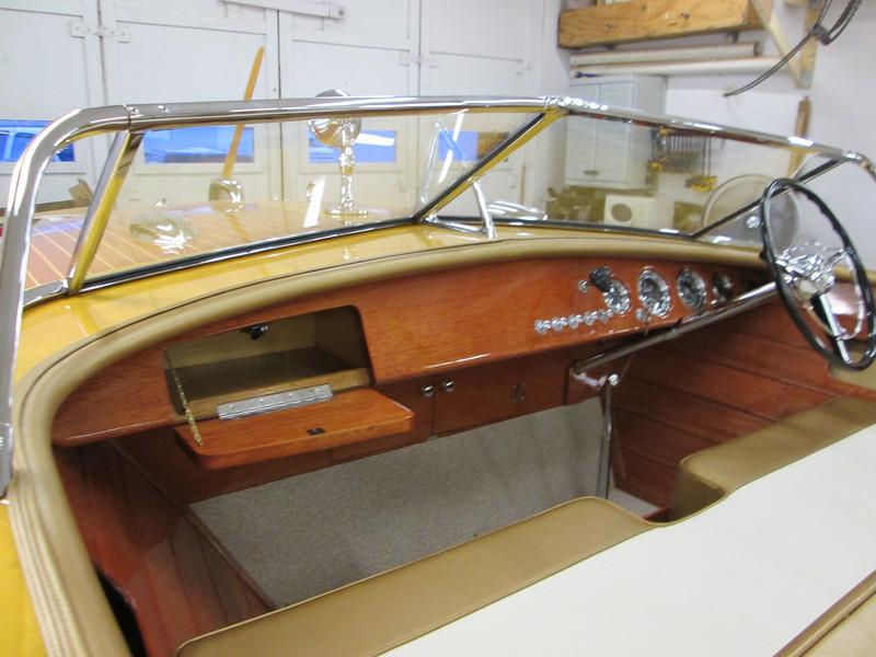 Port view of glove box door open.
