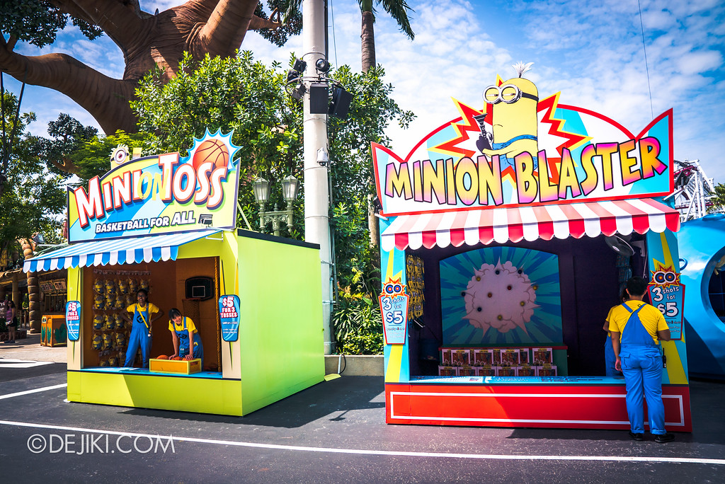 Universal Studios Singapore Park Update July 2017 - Despicable Me Minion Breakout Party event / Minion Toss and Minion Blaster