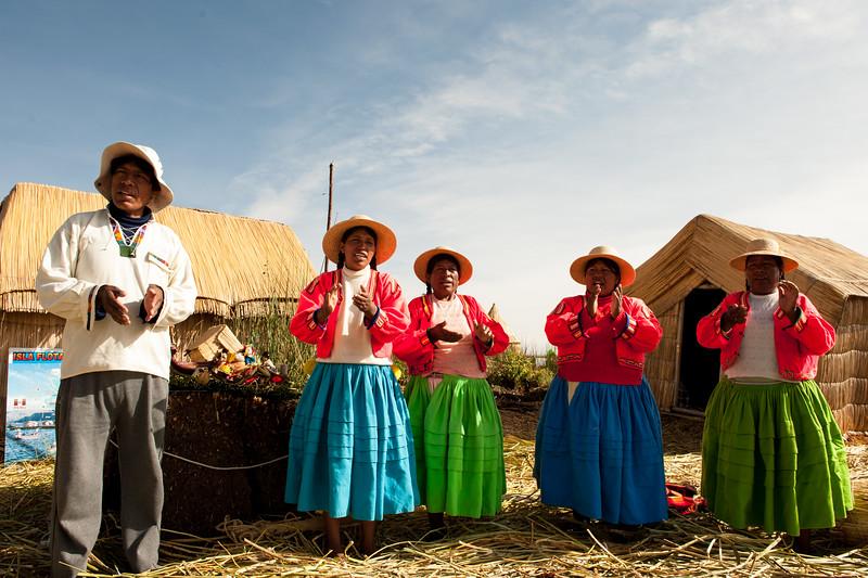 Uros Islands Lake Titicaca