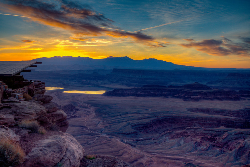 Sunset from Dead Horse Point near Moab, Utay