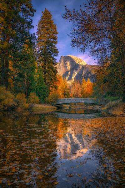 Swinging Bridge Half Dome Reflections.jpg