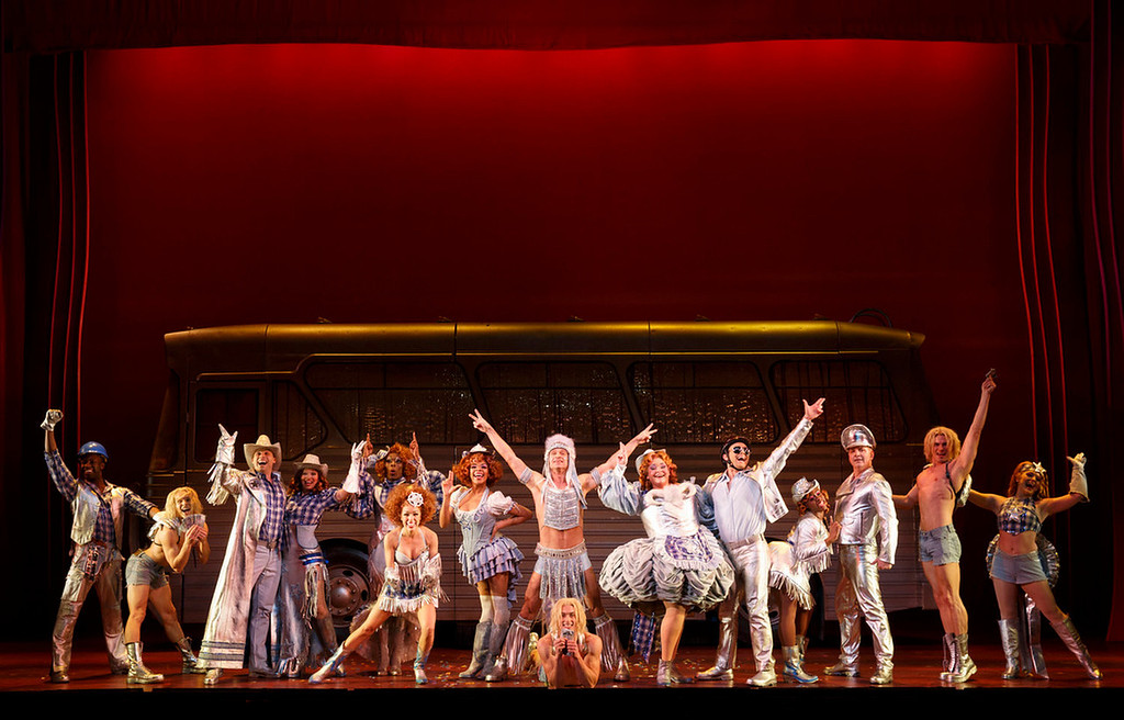 """. A scene from \'Go West\' in \""""Priscilla Queen of the Desert the Musical,\"""" which will be at the Buell Theatre Sept. 3-15, 2013.   (Photo by Joan Marcus, Provided by Denver Center Attractions)"""