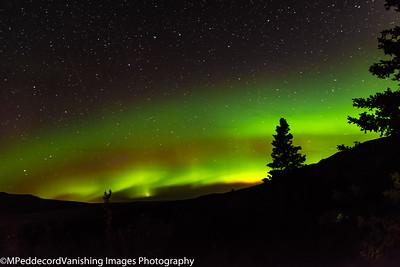 Auroras and Fall Landscapes  North Alaska