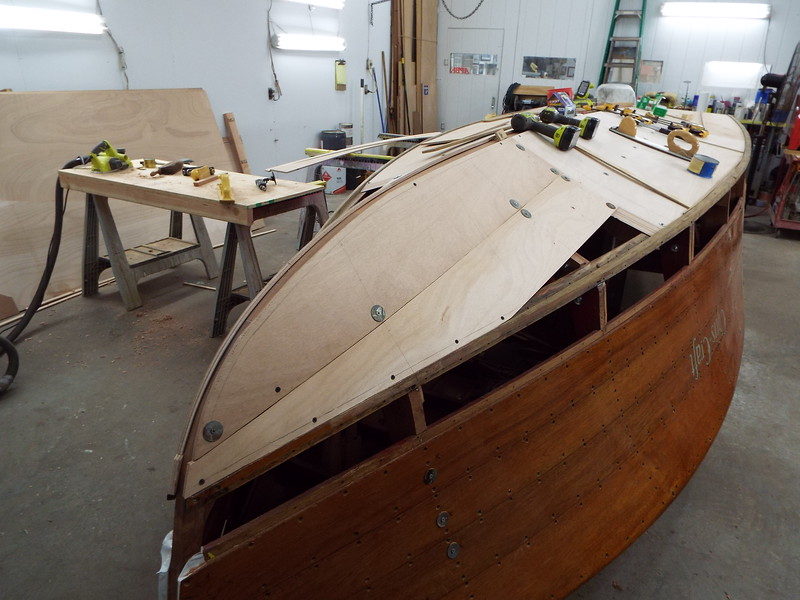 Starboard front pieces being fit.