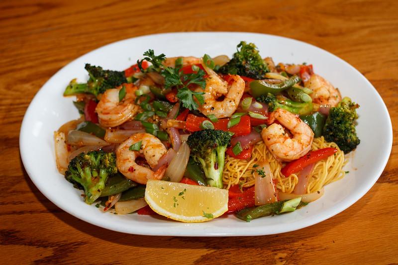 Thai Stir Fry with Shrimp and Noodles