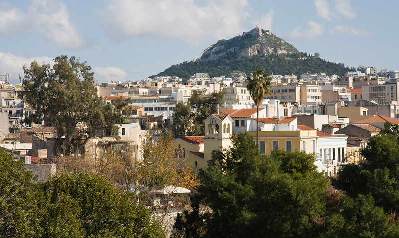 Athens with Lykavittos Hill