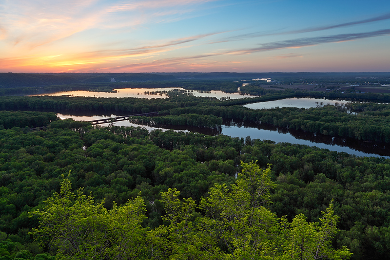 Setting Spring - Signal Point (Wyalusing State Park - Wisconsin)