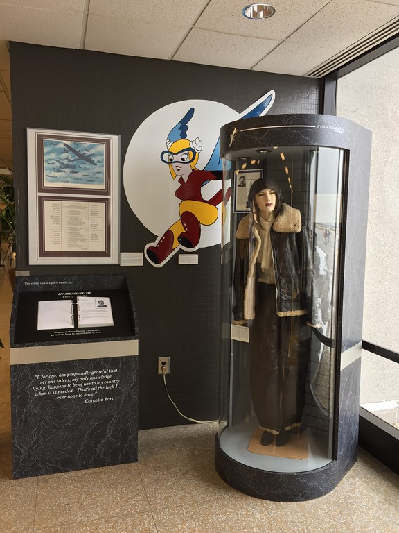 ". Courtesy of Katie Brinager � International Women�s Air &amp; Space Museum <br> This exhibit honors ""women airforce service pilots who gave their lives in performance of duty.\"""