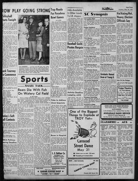 Daily Trojan, Vol. 37, No. 137, May 28, 1946