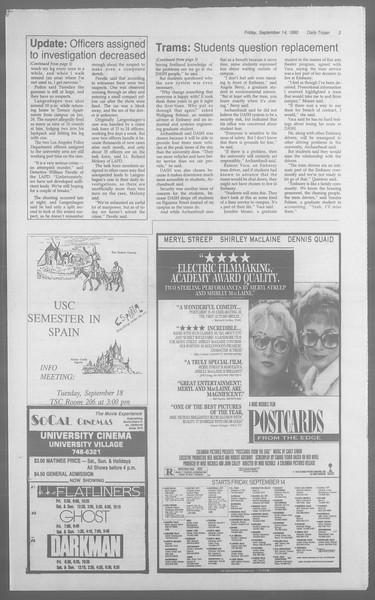 Daily Trojan, Vol. 113, No. 9, September 14, 1990