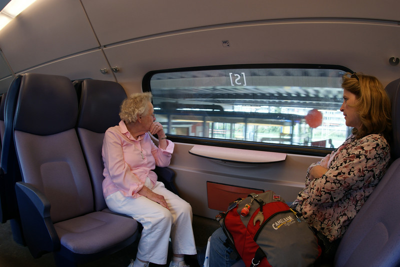 On the train from Gouda to Delft.