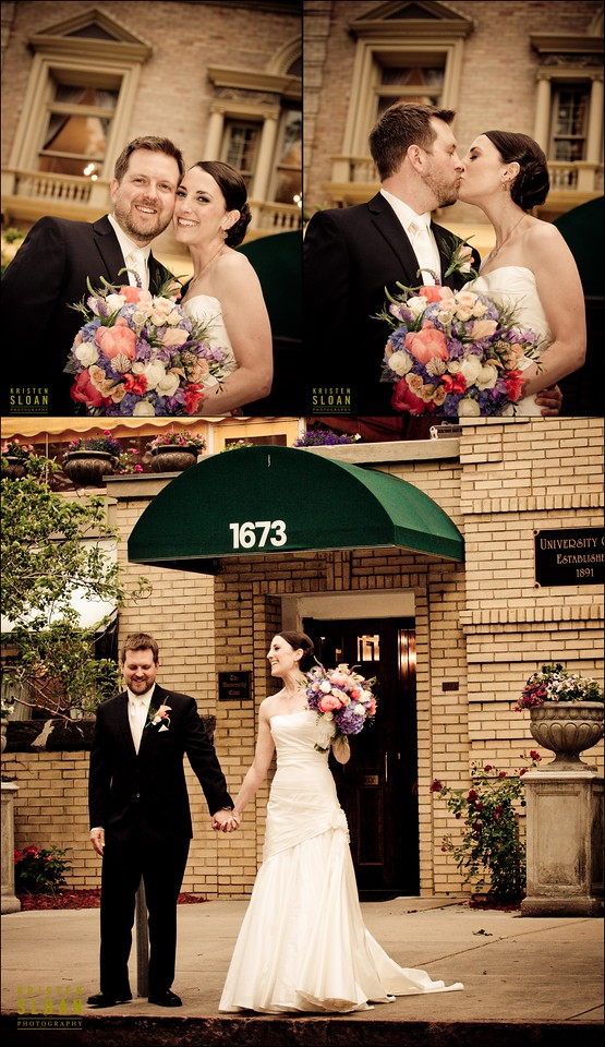 University Club Denver Wedding bride groom
