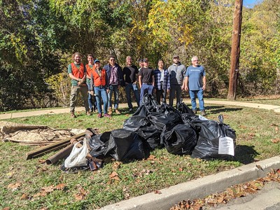 10.28.19 Patapsco River Cleanup at Main Street with HCC