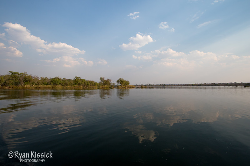 The mighty Zambezi River showing that it has a soft side