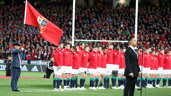 Lions during game 7 of the British and Irish Lions 2017 Tour of New Zealand, the first Test match between  The All Blacks and British and Irish Lions, Eden Park, Auckland, Saturday 24th June 2017 (Photo by Kevin Booth Steve Haag Sports)  Images for social media must have consent from Steve Haag