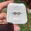 1.70ctw Old European Cut Diamond Clover Stud Earrings, GIA H-I SI 43