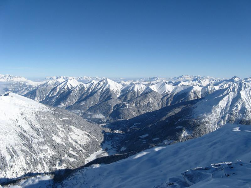 Bad Gastein in the valley below
