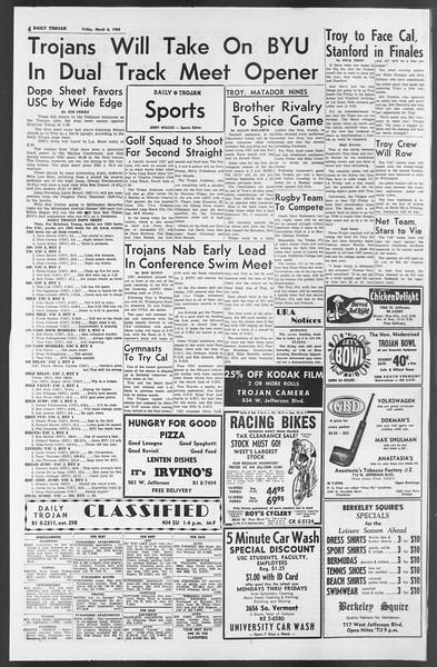 Daily Trojan, Vol. 54, No. 78, March 08, 1963