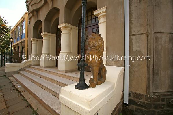 SOUTH AFRICA, Gauteng, Johannesburg, Doornfontein. Doornfontein Synagogue (aka The Lions Shul) (1.2013)